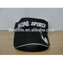 Высокое качество спорта солнцезащитный козырек крышки хлопка сетка 3D вышивка солнцезащитный козырек шляпу