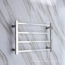 4 Bars Polishing Chrome Stainless Steel Towel Heated Towel Warmer Electric Heated Towel Rail With Timer