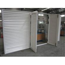 Пользовательские белые порошковые покрытия Swinging Aluminium Louvre Doors