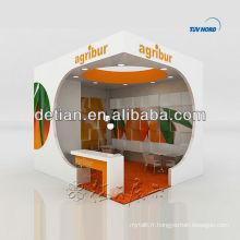 L'exposition de forme de conception en bois de stands pour l'exposition de stand d'exposition de salon d'exposition