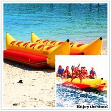 Rot und Gelb 6 Person Aufblasbares Bananenboot, vielseitige Funktion mit CE China