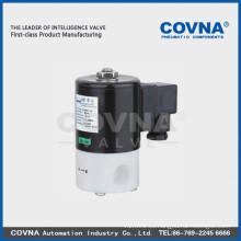 Aislamiento diafragma anti-corrosivo válvula solenoide ácido marino fuerte agua PTFE material tamaño1 pulgada normal cierre 2/2 válvula solenoide