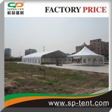 Großes gebogenes geformtes weißes Hochzeitszelt für im Freien 1000 Leute sitzendes 25x60m Zelt