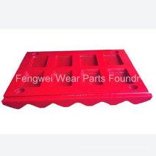 Fengwei hoher Manganstahl Mn21cr2 Backenbrecher-Verschleißteilbackenplatte