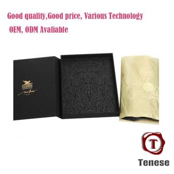 Cajas plegables de cartón de papel plegable negro nuevo diseño