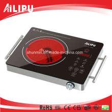 Placa caliente eléctrica del dispositivo de cocinar portátil de CB / CE con el cuerpo del metal