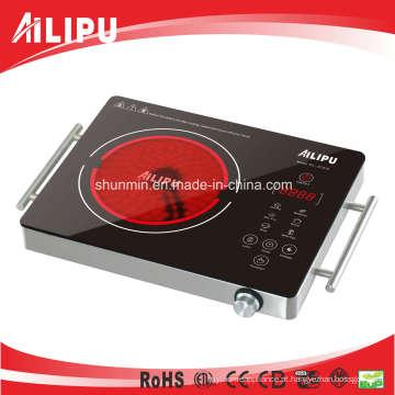 Placa quente elétrica do dispositivo de cozimento portátil de CB / CE com corpo do metal