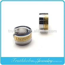 Pendientes de aro TKB-E0007 para hombres Pendiente de acero inoxidable chapado en oro de 7 mm