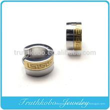 TKB-E0007 Boucles d'oreilles pour hommes Boucle d'oreille en acier inoxydable plaqué or de 7 mm