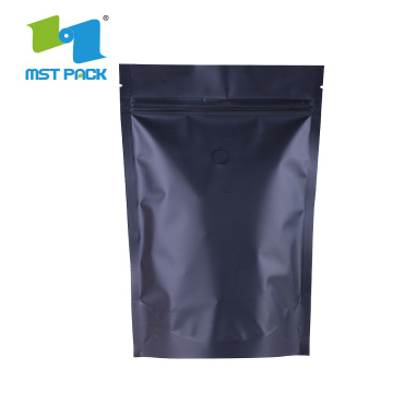 Pembungkusan kopi Biodegradable Stand Up Plastic Zipper Bag