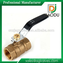 High quality and low price manufacturer original brass color npt nibco lead free ball valves with black handle