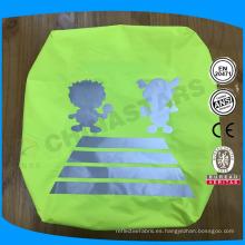 Cubierta viscosa impermeable de la mochila de la alta visibilidad con la insignia reflexiva