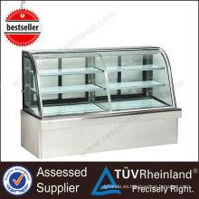 Refrigerador refrigerado de la exhibición de la torta del equipo R134a de la cocina de la alta calidad