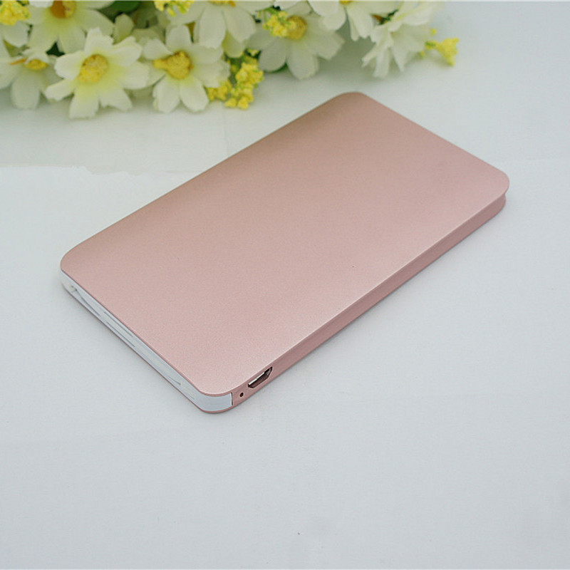 Ultra Thin Metal Card Power Bank 4000mAh