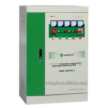 Regulador / estabilizador de voltaje de la CA de SBW-50k de la serie de tres fases de encargo compensado