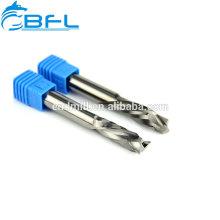 BFL-Vollhartmetall-Schneidwerkzeuge Down Cut Flute Spiral-Schaftfräser Konischer Schneider