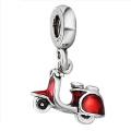 925 Silber Motor Charms mit Emaille Schmuck