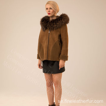 Kopenhagen Fur Hooded Short Jacket För Lady