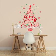 Hot sell Merry Christmas waterproof window sticker, wall sticker