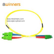 Cabo de remendo da fibra óptica de SC / UPC LC / UPC SM DX