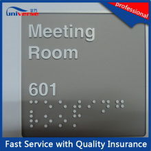 Plastic Braille ABS Room Sign for Building with Australia Standard