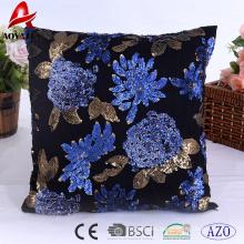 Hot sale elegant sequins design home use decorative cushion, sofa cushion