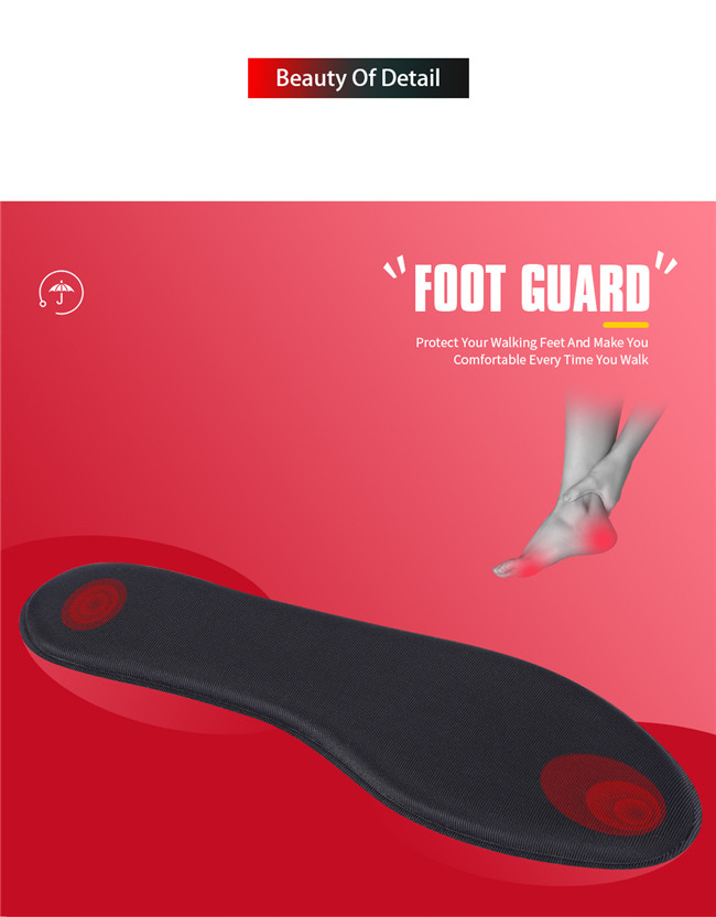 Black grey foam insole for foot protection
