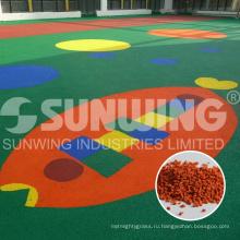 поставщик Китая покрашенные рециркулированные зерна EPDM для детского сада