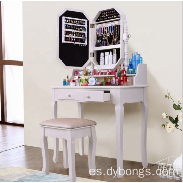 Mirrored Wooden Dressing Table Designs for Bedroom