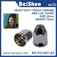 Accessoires de camion Chrome Plastic Hex Spike Nut Cover - Push on