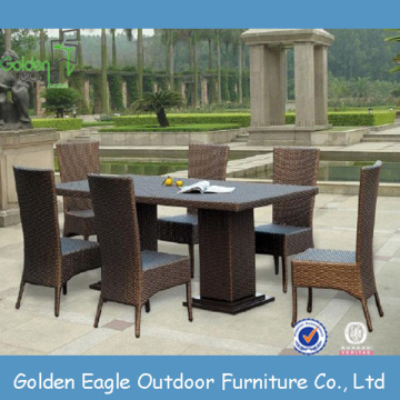 Rattan All Weather Furniture 7pcs Set da pranzo