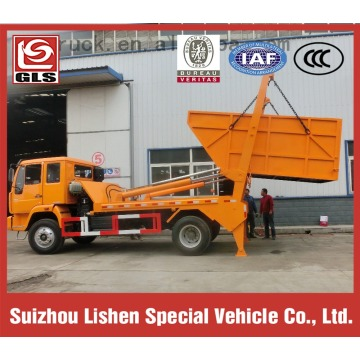 Sinotruck HOWO 4X2 swing arm garbage truck,hydraulic arm lifting refuse truck