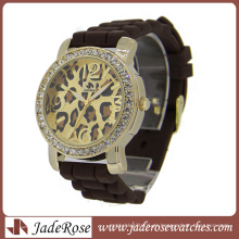 Silicone de alta qualidade relógio de pulso de quartzo para promocional