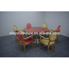 Luxury wooden restaurant table and chair XYN1253