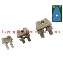 steel wire clip/ guy wire electric clamp/pole line power fitting wire rope fitting cable rope link fix clamp