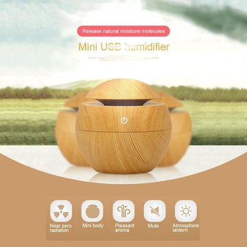 130ml USB Cool Mist Aroma Diffuser Air Humidifier