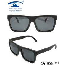 China Wooden Factory Square Wooden Sunglasses