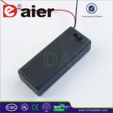 Daier 3v 2 aaa soporte de batería con cubierta aaa soporte de batería