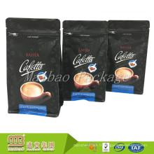 Sacs d'emballage moulus de café moulu d'expresso de gousset de côté de côté de norme de FDA pour le café moulu avec la valve