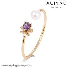 51735 Joyería de moda al por mayor, brazalete de perlas con cristal artificial
