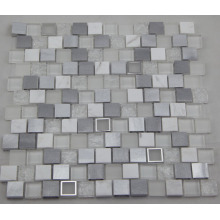 White Aluminum Mosaic/ Glass Mosaic/ Marble Mosaic (HGM392)