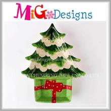 Christmas Gift Grace Ceramic Christmas Tree Snack Plate