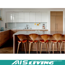 High Gloss Lacuer Mix Veneer Kitchen Cupboards with Island (AIS-K332)