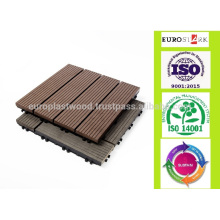 Verkauf weg von 300x300 Millimeter-preiswerter WPC decking Fußbodenfliesen, DIY ineinander greifende Fliesen, wpc Material, Plattform wpc, waterpfoof, Antislip