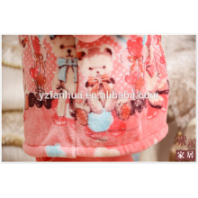 Animal bear printed Flannel Pajamas Suit for Winter Home Relax Wear