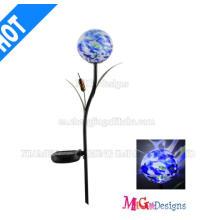 Regalo promocional Estaca de luces solares de metal y vidrio