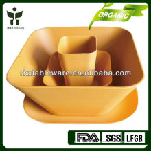 Biodegradable non-toxic plant fiber eco dish sets