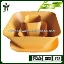 Биоразлагаемые бамбуковые волокна посуда натурального растительного волокна посуда нетоксичные бамбуковые столовые приборы волокна