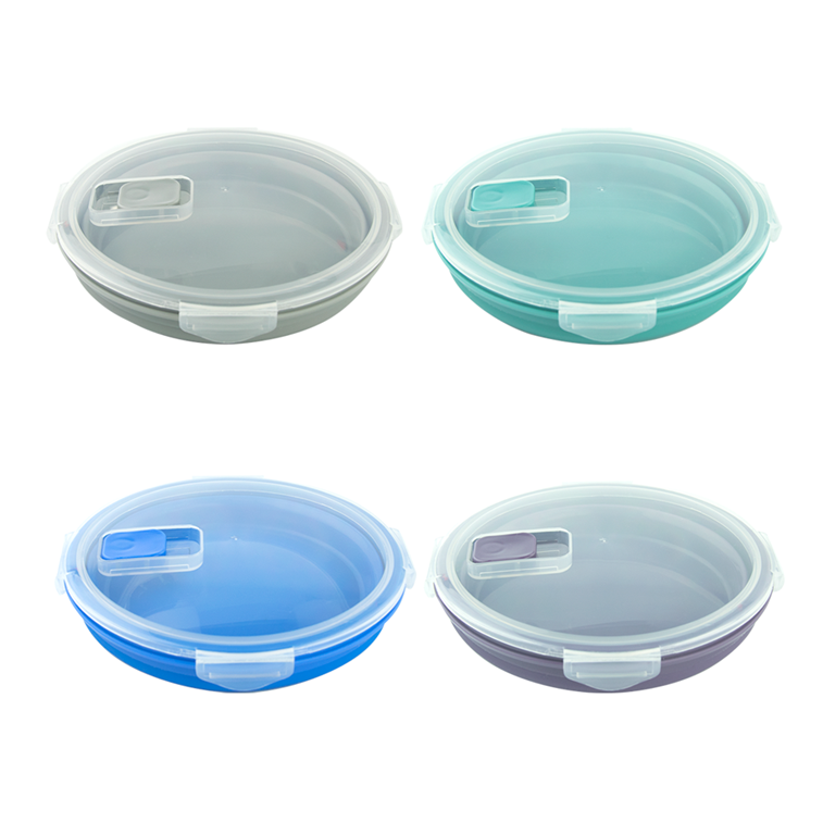 round shape silicone lunch box (38)