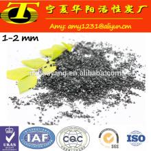 Material de granulado de carbono ativado para filtração de água